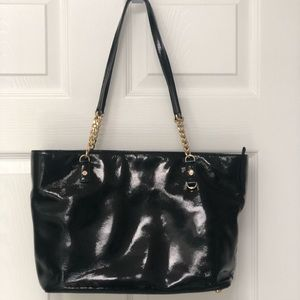 Black Patent Leather Michael Kors Bag